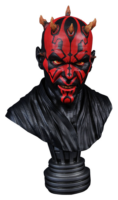 diamond select toys star wars legends in 3d darth maul 1/2 scale bust