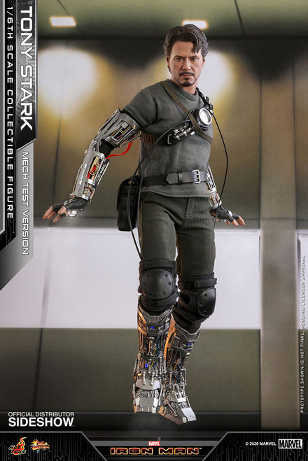 hot toys tony stark mech test version one sixth scale figure