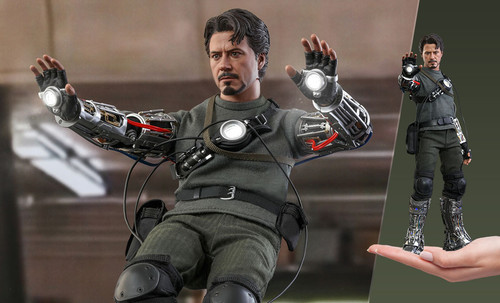 hot toys tony stark mech test deluxe