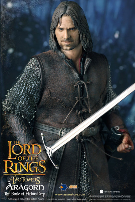 asmus aragorn at helms deep one sixth scale figure