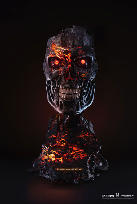 purearts terminator t-800 battle damaged art mask