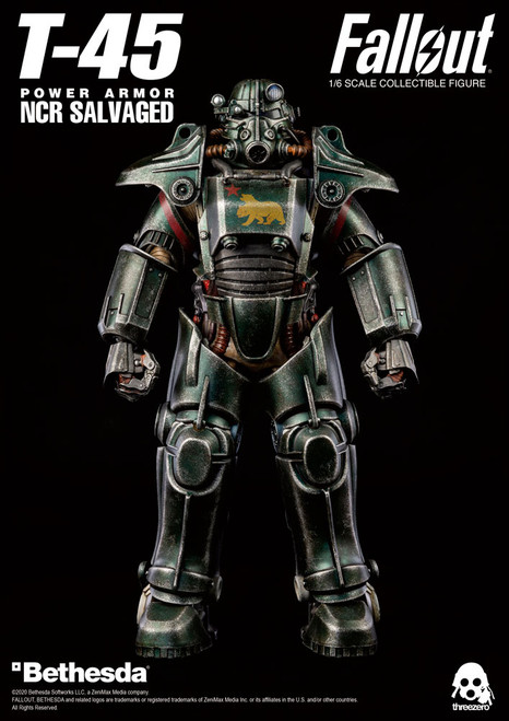 Threezero Fallout T-45 NCR Salvaged Power Armor 1/6 Scale Figure