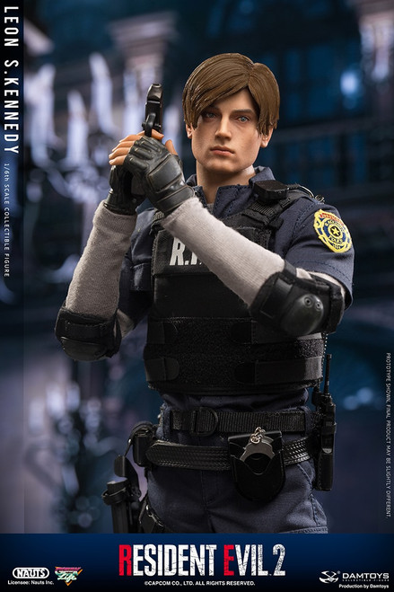 damtoys resident evil 2 leon s kennedy one sixth scale figure