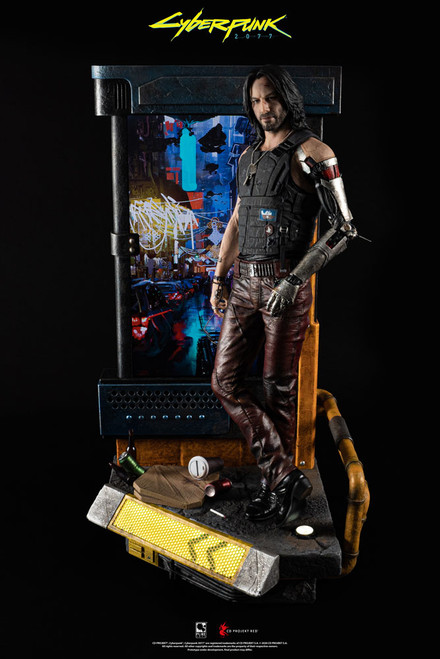 pure arts cyberpunk 2077 johnny silverhand quarter scale statue
