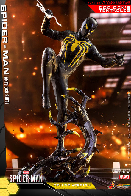 hot toys spider-man anti ock suit deluxe sixth scale figure