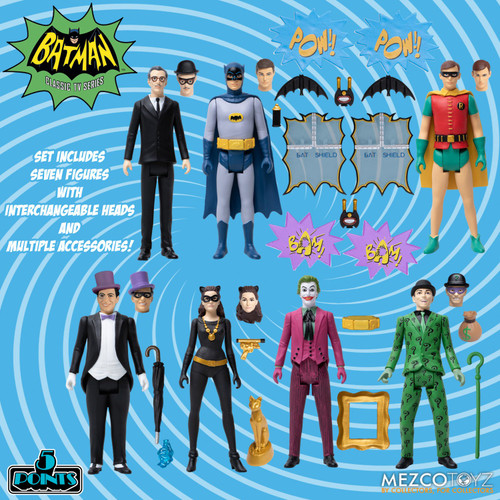 mezco 5 points batman 1966 deluxe boxed set
