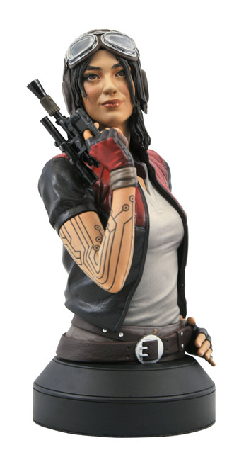 diamond select toys star wars comic doctor aphra 1/6 scale bust