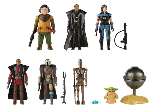 star wars mandalorian retro collection wave one action figures