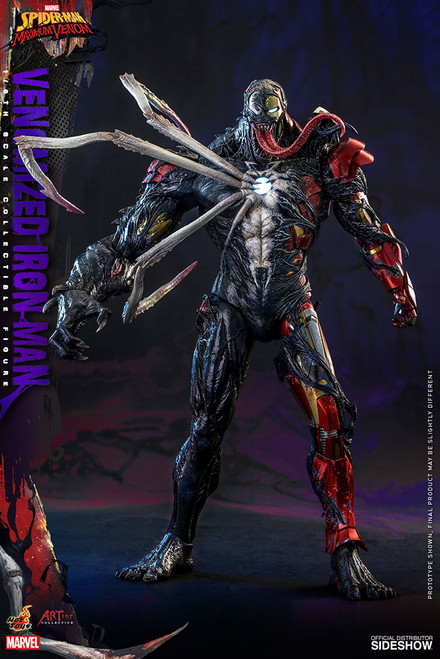 hot toys venomized iron man one sixth scale action figure