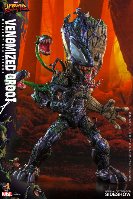 hot toys venomized groot one sixth scale action figure