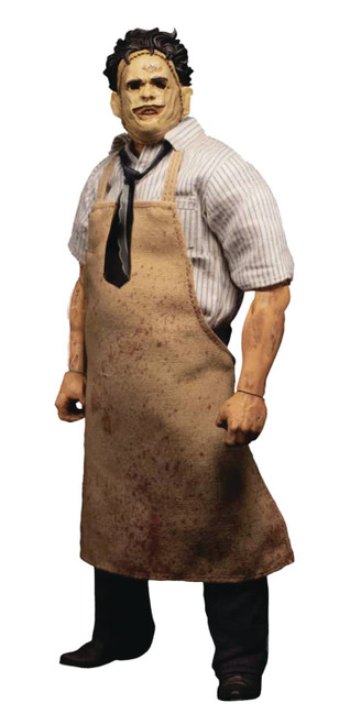 mezco one 12 collective texas chainsaw massacre leatherface deluxe action figure