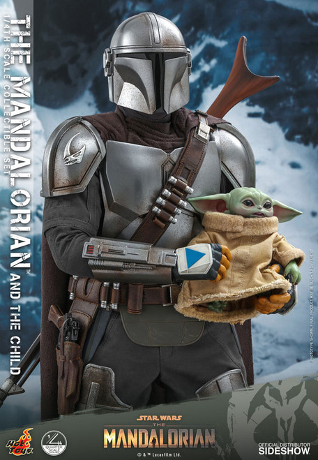 hot toys mandalorian child quarter scale figure set