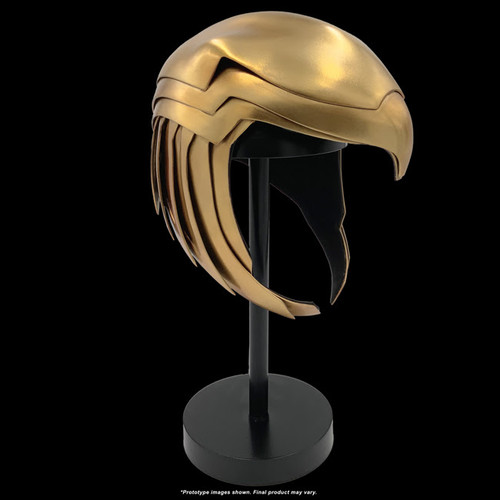 factory entertainment wonder woman golden armor helmet prop replica