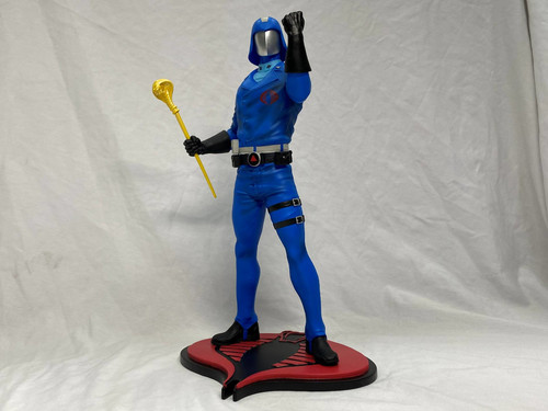 pcs collectibles gi joe cobra commander statue