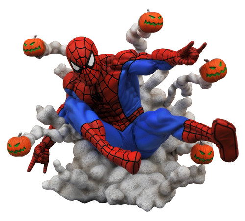 diamond select toys marvel gallery pumpkin bomb spider-man statue