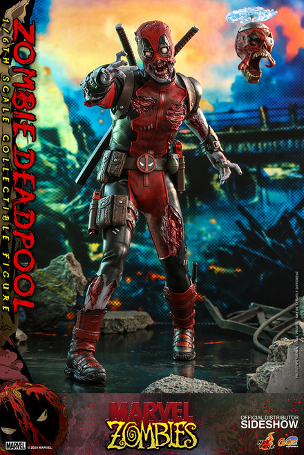 hot toys zombie deadpool sixth scale figure