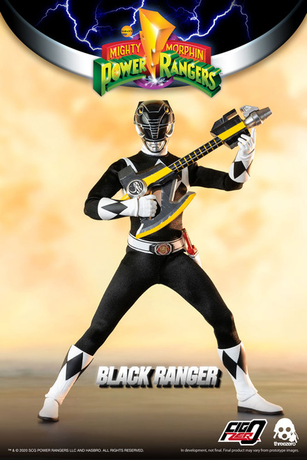 threezero power rangers black ranger 1/6 scale figure