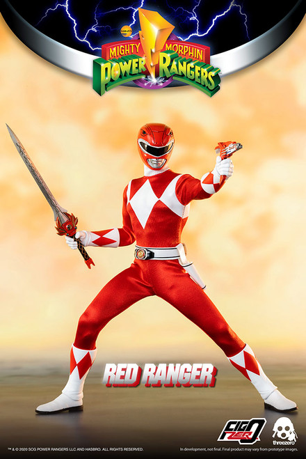 threezero power rangers red ranger 1/6 scale figure