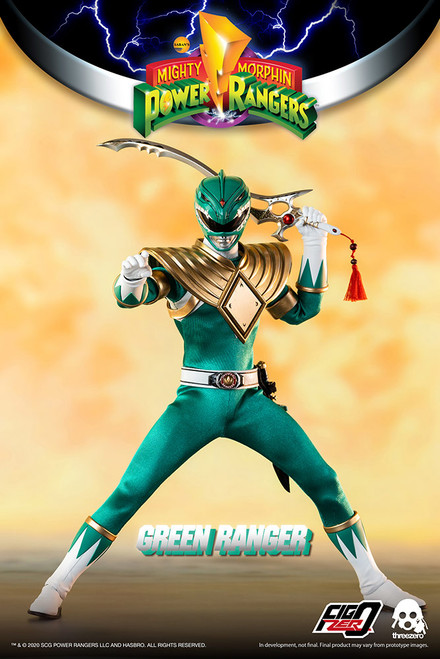 threezero power rangers green ranger 1/6 scale figure