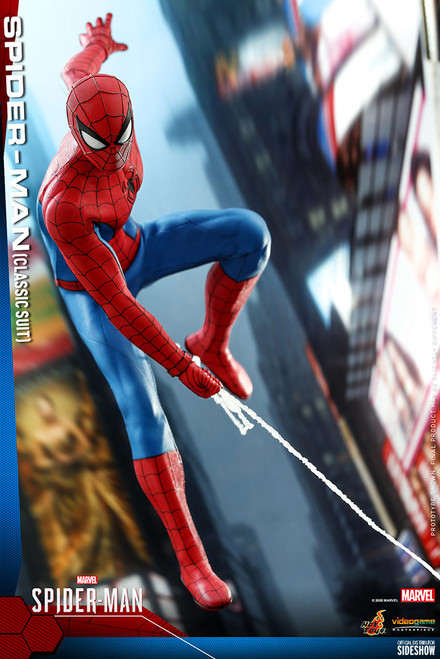 hot toys spider-man classic suit sixth scale figure