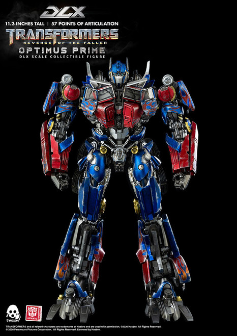 threezero transformers revenge of the fallen dlx optimus prime figure