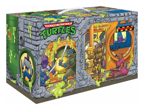 tmnt retro rotocast sewer lair previews exclusive action figure set