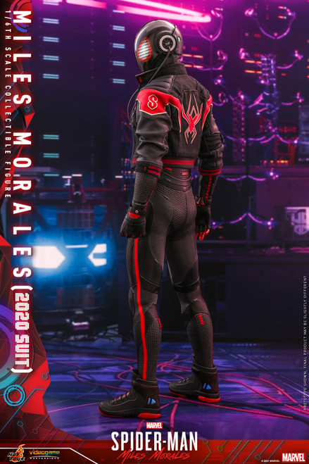 hot toys miles morales 2020 suit 1/6 scale figure