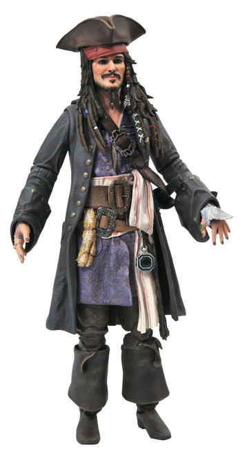 diamond select toys pirates of the caribbean jack sparrow action figure