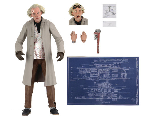 neca back to the future doc brown ultimate action figure