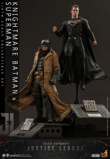 hot toys knightmare batman superman sixth scale figure set