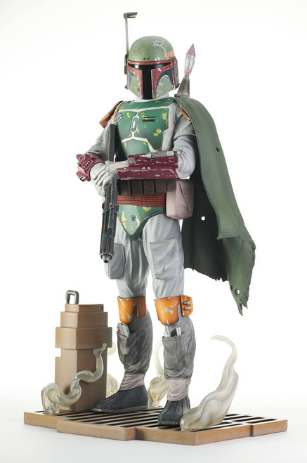 diamond select toys star wars return of the jedi milestones boba fett statue