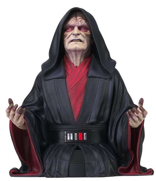 diamond select toys star wars rise of skywalker emperor palpatine bust