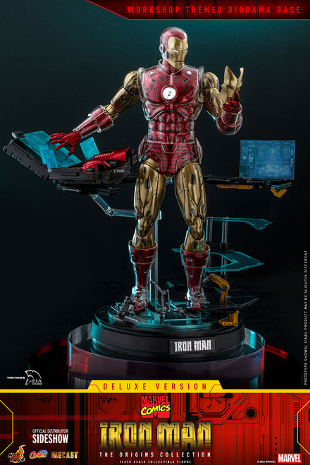 hot toys iron man deluxe sixth scale figure origins die cast
