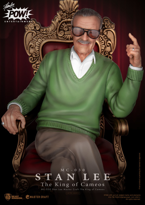 beast kingdom stan lee king of cameos statue