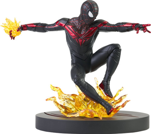 diamond select toys marvel gallery ps5 miles morales statue