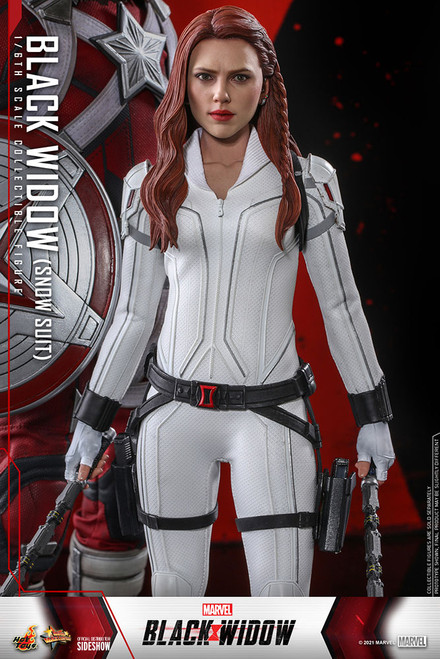 hot toys black widow snow suit version one sixth scale figure
