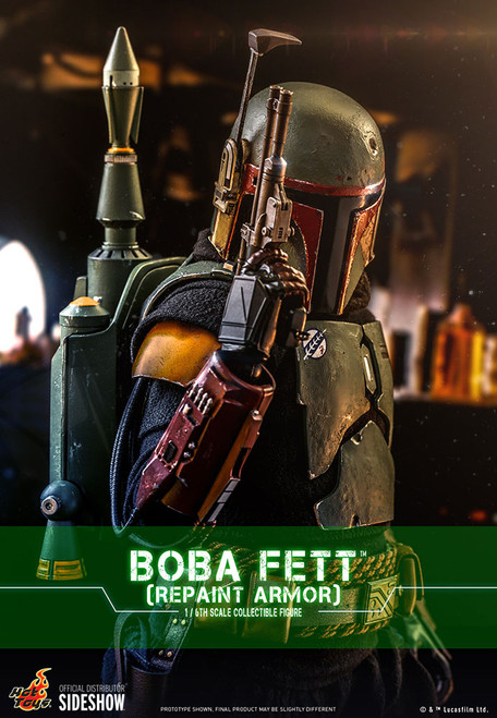 hot toys boba fett repaint armor one sixth scale figure