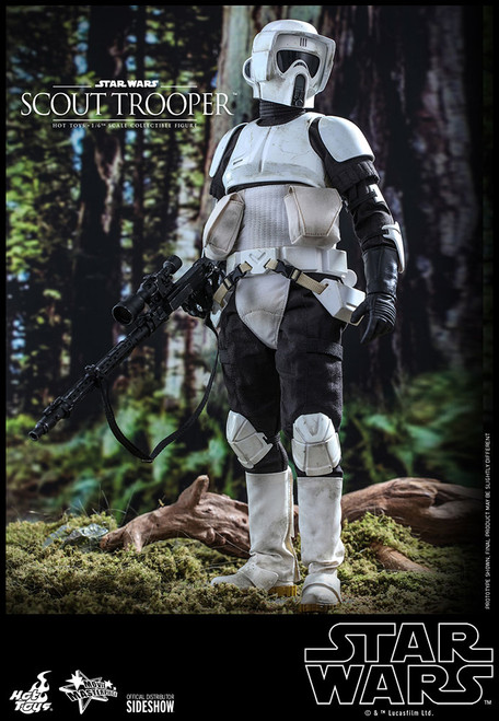 hot toys scout trooper one sixth scale figure
