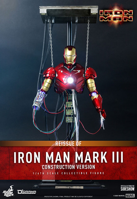 hot toys iron man mark III construction version one sixth scale figure