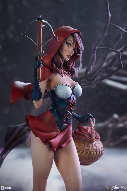 sideshow collectibles red riding hood statue j scott campbell