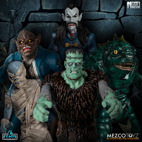 mezco monsters tower of fear deluxe boxed set 5 points