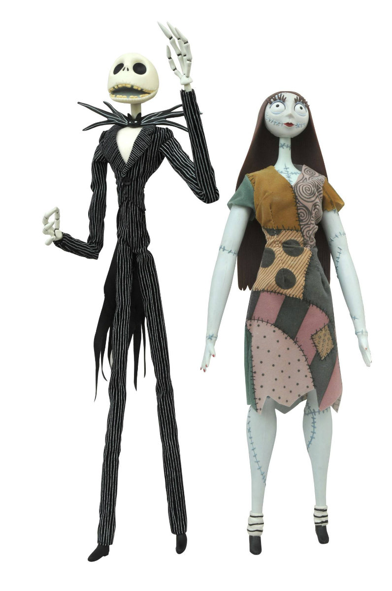 Nightmare Before Christmas Jack and Sally Coffin Doll Set