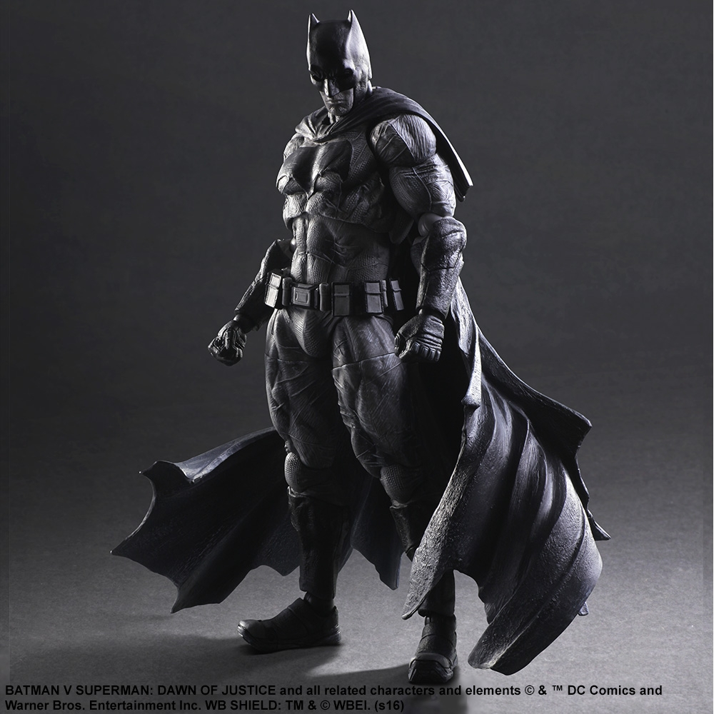 Kotobukiya sdcc 2016 batman v superman dawn of justice play arts kai black and white