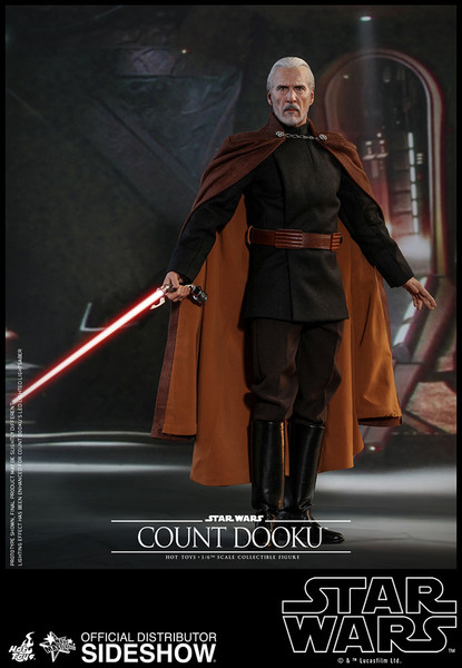 Star Wars Attack Of The Clones Count Dooku 1 6 Scale Figure Hot Toys