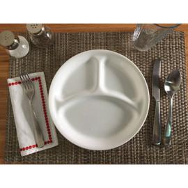 Corelle Winter Frost White Divided Plate (22cm) - Diet Portions Dinner Plate