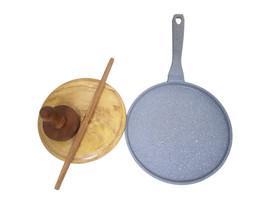 Ignite Crepe Pan with roti board set
