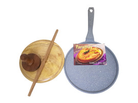 Ignite Crepe Pan with roti board set and book