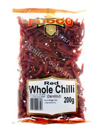 200g Red Whole Chilli ( Dandicut ) - Fudco