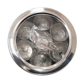 Stainless Steel Masala Dabba with Clear Lid