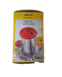 stainless steel oil pourer without lid view